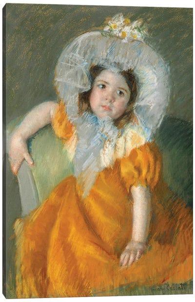 Margot In Orange Dress, 1902 Canvas Art Print