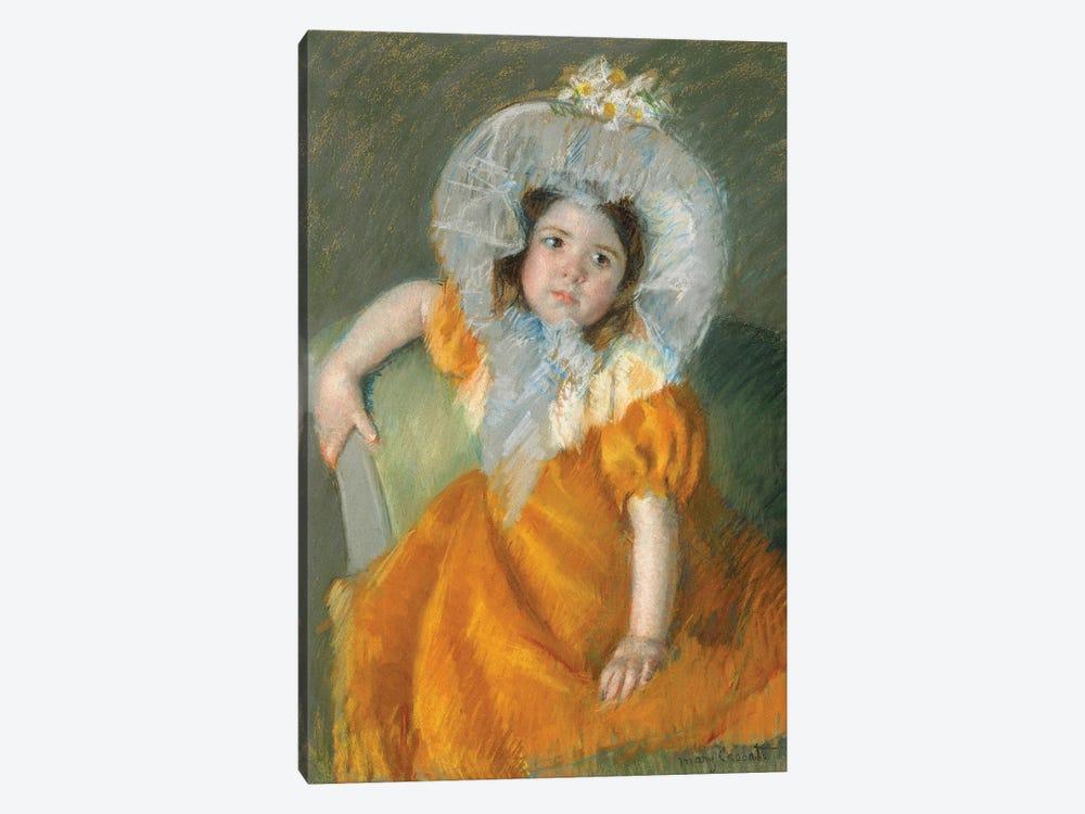 Margot In Orange Dress, 1902 by Mary Stevenson Cassatt 1-piece Canvas Wall Art