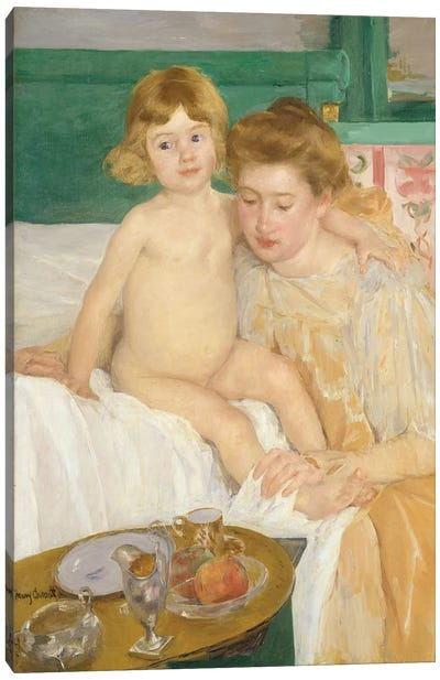 Mother And Child (Baby Getting Up From His Nap), c.1899 Canvas Art Print