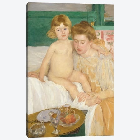 Mother And Child (Baby Getting Up From His Nap), c.1899 Canvas Print #BMN8063} by Mary Stevenson Cassatt Canvas Wall Art