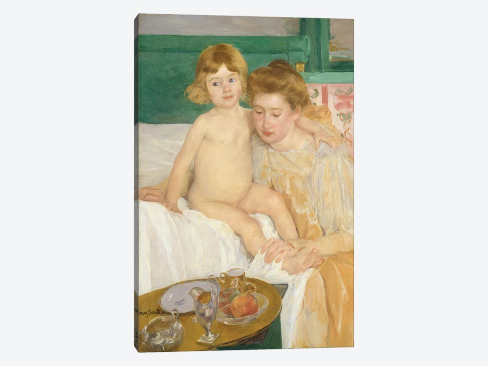 Mother And Child (Baby Getting Up From His Nap), c.1899 by Mary Stevenson Cassatt 1-piece Canvas Print