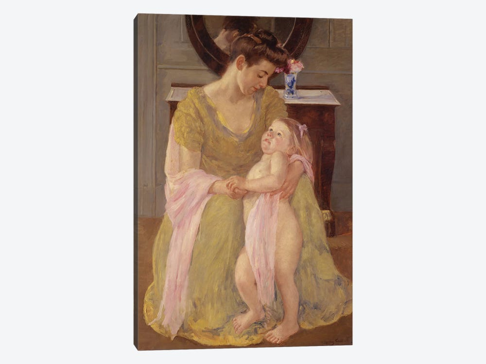 Mother And Child With A Rose Scarf, c.1908 by Mary Stevenson Cassatt 1-piece Canvas Artwork