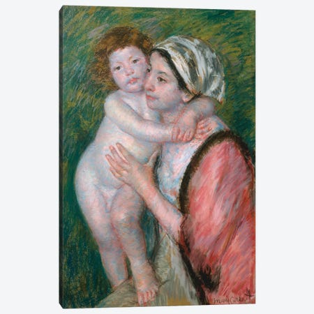 Mother And Child, 1914 Canvas Print #BMN8065} by Mary Stevenson Cassatt Canvas Print
