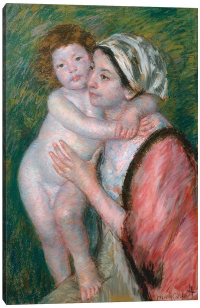 Mother And Child, 1914 Canvas Art Print