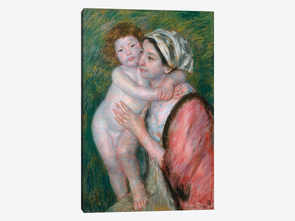 Mother And Child, 1914 by Mary Stevenson Cassatt 1-piece Canvas Print