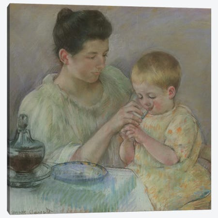 Mother Feeding Child, 1898 Canvas Print #BMN8067} by Mary Stevenson Cassatt Canvas Art Print