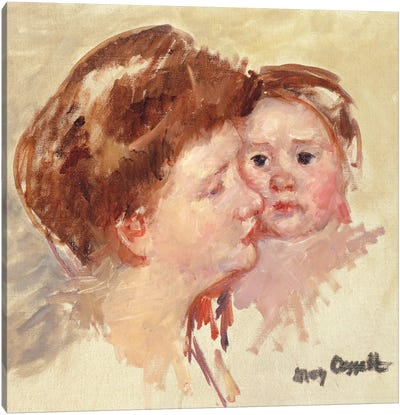 Mother In Profile With Baby Cheek To Cheek (No.2), c.1909 Canvas Art Print