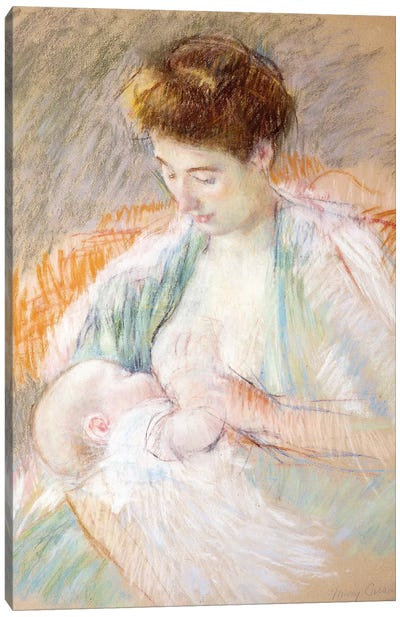 Mother Rose Nursing Her Child, c.1900 Canvas Art Print