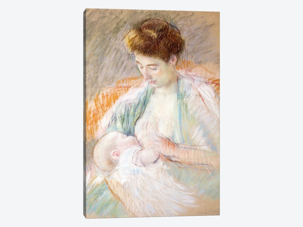 Mother Rose Nursing Her Child, c.1900 by Mary Stevenson Cassatt 1-piece Art Print