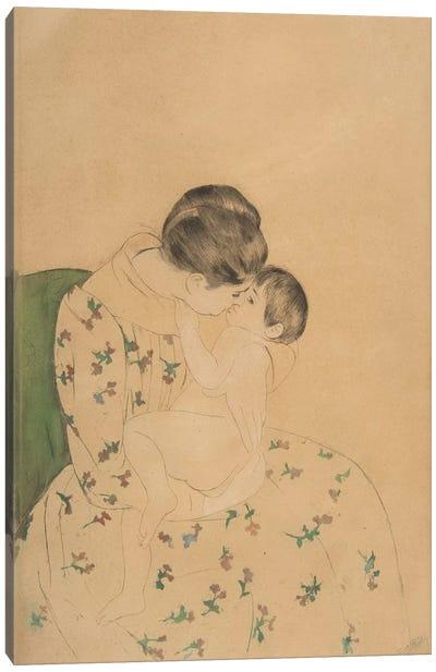 Mother's Kiss, c.1891 Canvas Art Print