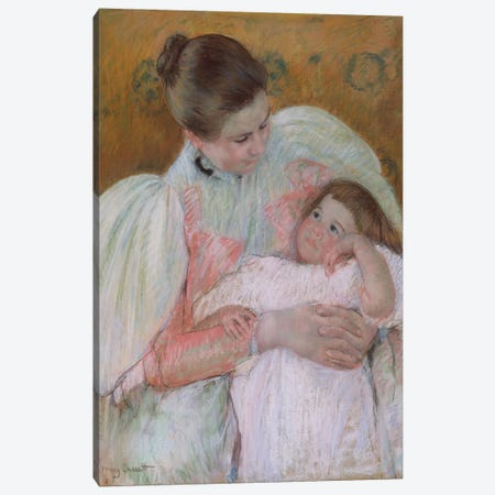 Nurse And Child, 1896-7 Canvas Print #BMN8073} by Mary Stevenson Cassatt Canvas Art Print