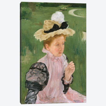 Portrait Of A Young Girl, c.1899 Canvas Print #BMN8076} by Mary Stevenson Cassatt Canvas Wall Art