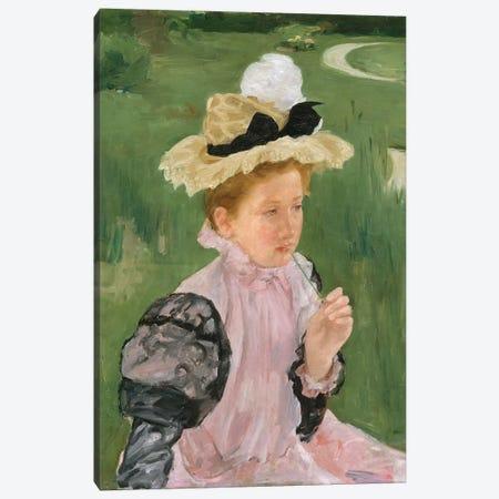 Portrait Of A Young Girl, c.1899 Canvas Print #BMN8076} by Mary Stevenson Cassatt Canvas Wall Art