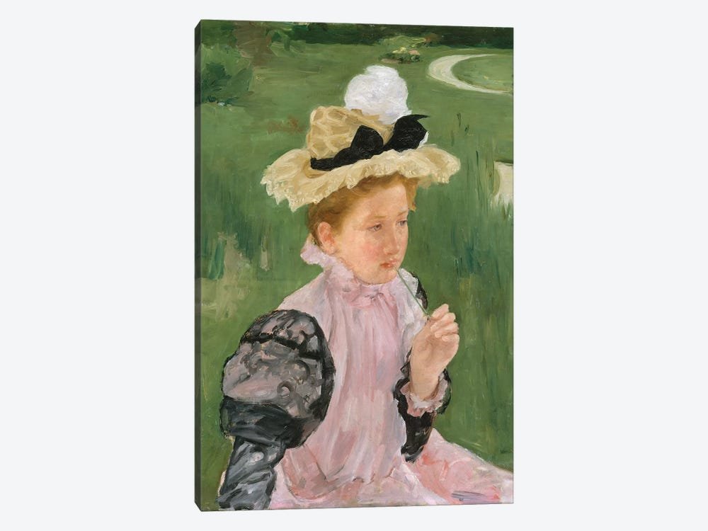 Portrait Of A Young Girl, c.1899 by Mary Stevenson Cassatt 1-piece Canvas Art Print