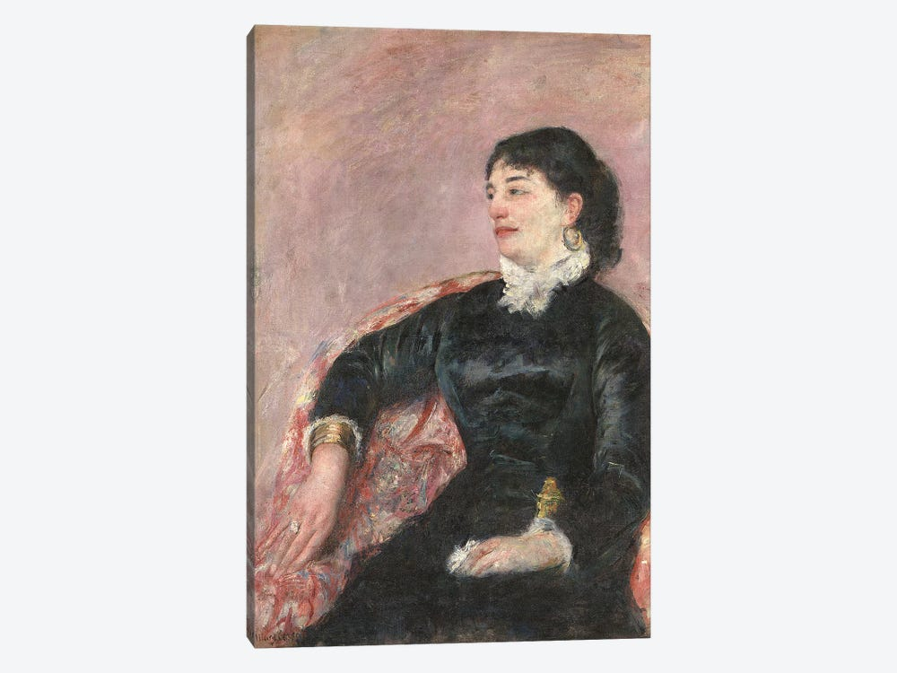 Portrait Of An Italian Lady by Mary Stevenson Cassatt 1-piece Canvas Wall Art