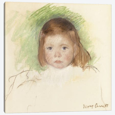 Portrait Of Ellen Mary Cassatt 3-Piece Canvas #BMN8079} by Mary Stevenson Cassatt Art Print