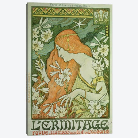 L'Ermitage  Canvas Print #BMN807} by Paul Berthon Art Print