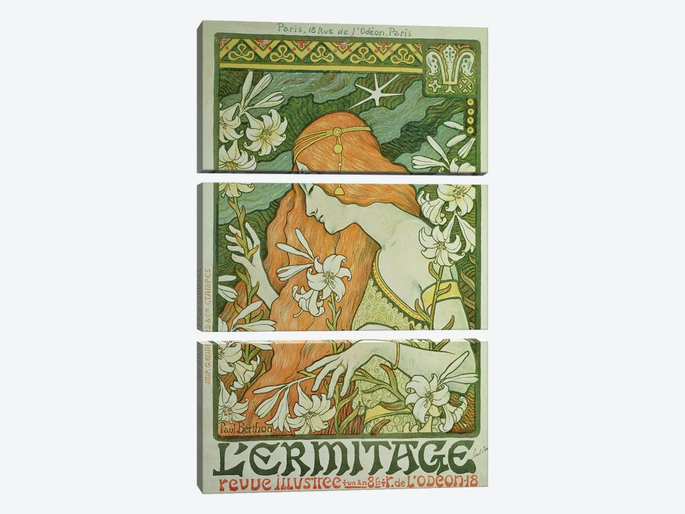 L'Ermitage  by Paul Berthon 3-piece Canvas Art Print