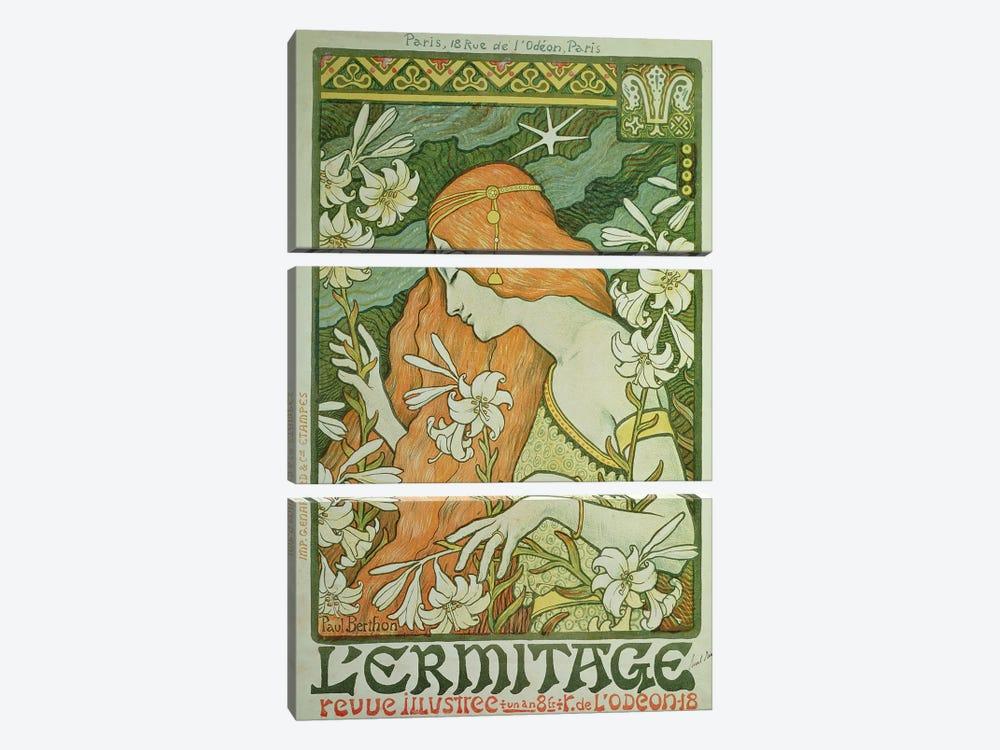 L'Ermitage  by Paul Berthon 3-piece Canvas Art Print