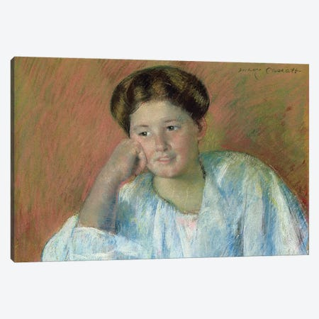 Portrait Of Louisine Elder (Mrs. Samuel T. Peters) Canvas Print #BMN8080} by Mary Stevenson Cassatt Canvas Artwork
