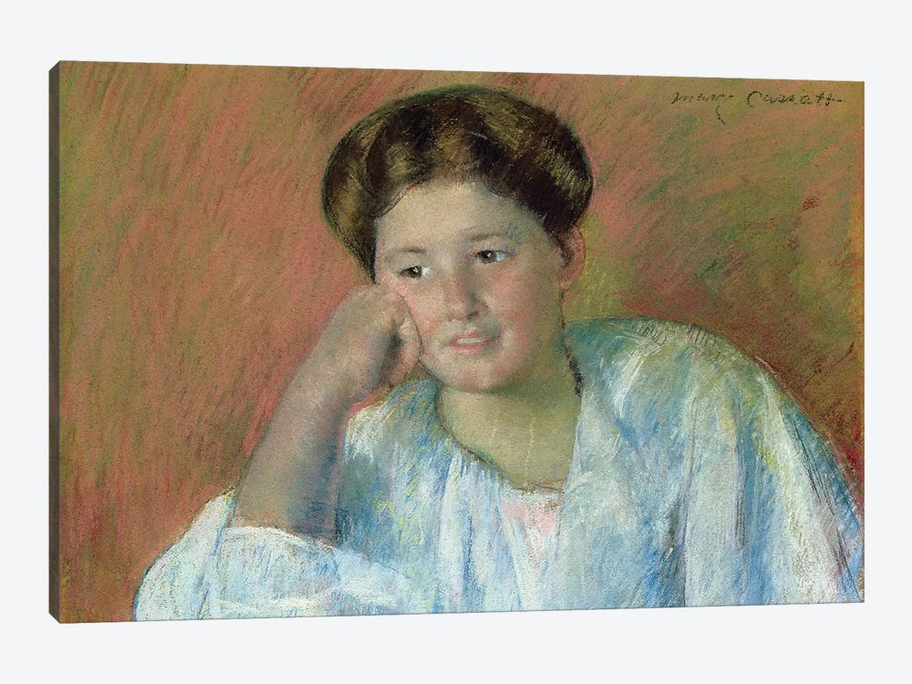 Portrait Of Louisine Elder (Mrs. Samuel T. Peters) by Mary Stevenson Cassatt 1-piece Canvas Artwork