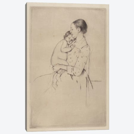 Quietude, c.1891 Canvas Print #BMN8083} by Mary Stevenson Cassatt Canvas Wall Art
