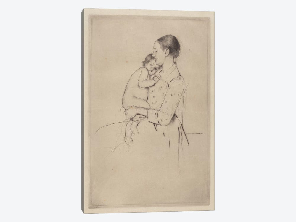Quietude, c.1891 by Mary Stevenson Cassatt 1-piece Canvas Art Print