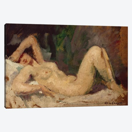 Reclining Nude Canvas Print #BMN8084} by Mary Stevenson Cassatt Canvas Art Print