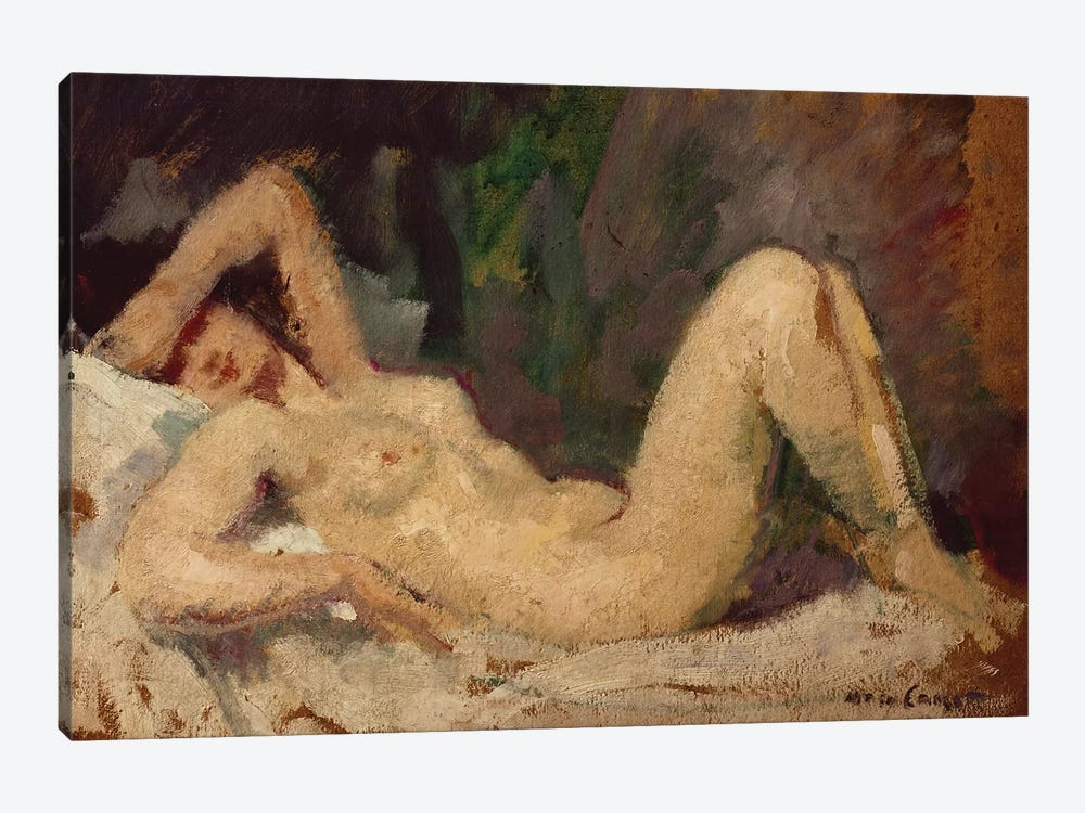 Reclining Nude by Mary Stevenson Cassatt 1-piece Canvas Artwork