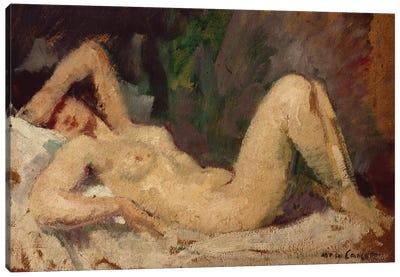 Reclining Nude Canvas Art Print