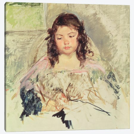 Sketch For 'Francoise In A Round-Backed Chair, Reading' Or 'A Girl In Pink' c.1908 Canvas Print #BMN8088} by Mary Stevenson Cassatt Canvas Art