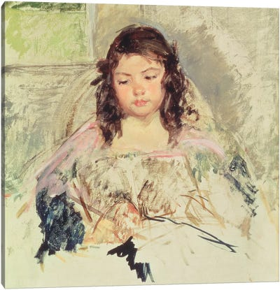 Sketch For 'Francoise In A Round-Backed Chair, Reading' Or 'A Girl In Pink' c.1908 Canvas Art Print