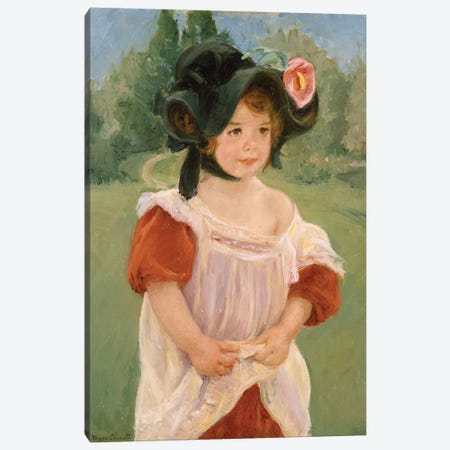 Spring: Margot Standing In A Garden, 1900 Canvas Print #BMN8089} by Mary Stevenson Cassatt Canvas Artwork
