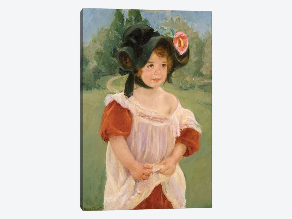 Spring: Margot Standing In A Garden, 1900 by Mary Stevenson Cassatt 1-piece Canvas Art Print