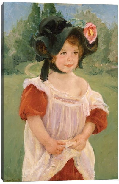 Spring: Margot Standing In A Garden, 1900 Canvas Art Print