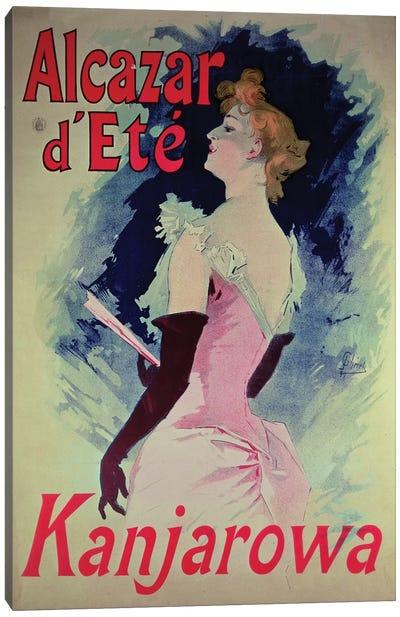 Alcazar d'Ete (Starring Kanjarowa) Advertisment Canvas Art Print