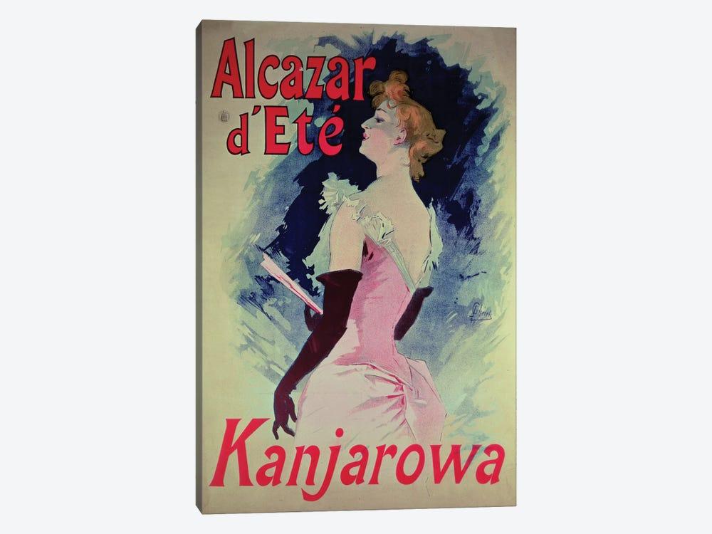 Alcazar d'Ete (Starring Kanjarowa) Advertisment by Jules Cheret 1-piece Canvas Wall Art