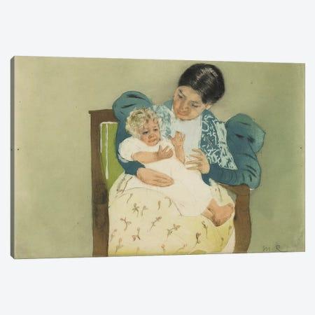 The Barefooted Child, C. 1896-97 (colour aquatint & drypoint) Canvas Print #BMN8093} by Mary Stevenson Cassatt Art Print