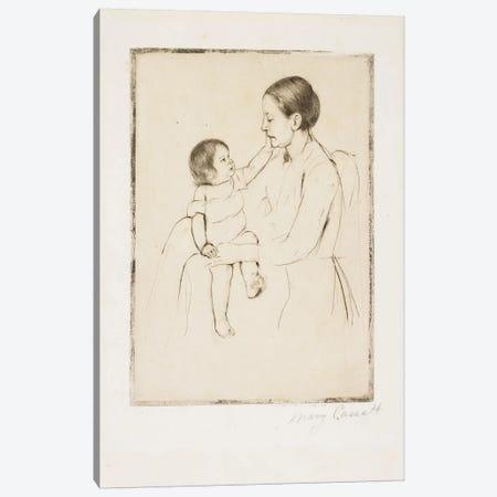 The Caress, C. 1891 3-Piece Canvas #BMN8094} by Mary Stevenson Cassatt Canvas Artwork