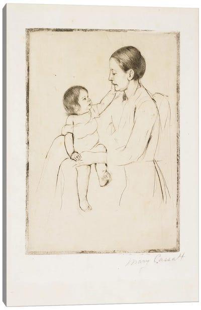 The Caress, C. 1891 Canvas Art Print