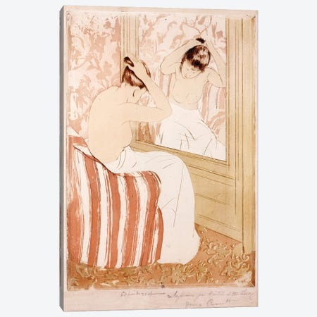 The Coiffure  3-Piece Canvas #BMN8095} by Mary Stevenson Cassatt Canvas Wall Art