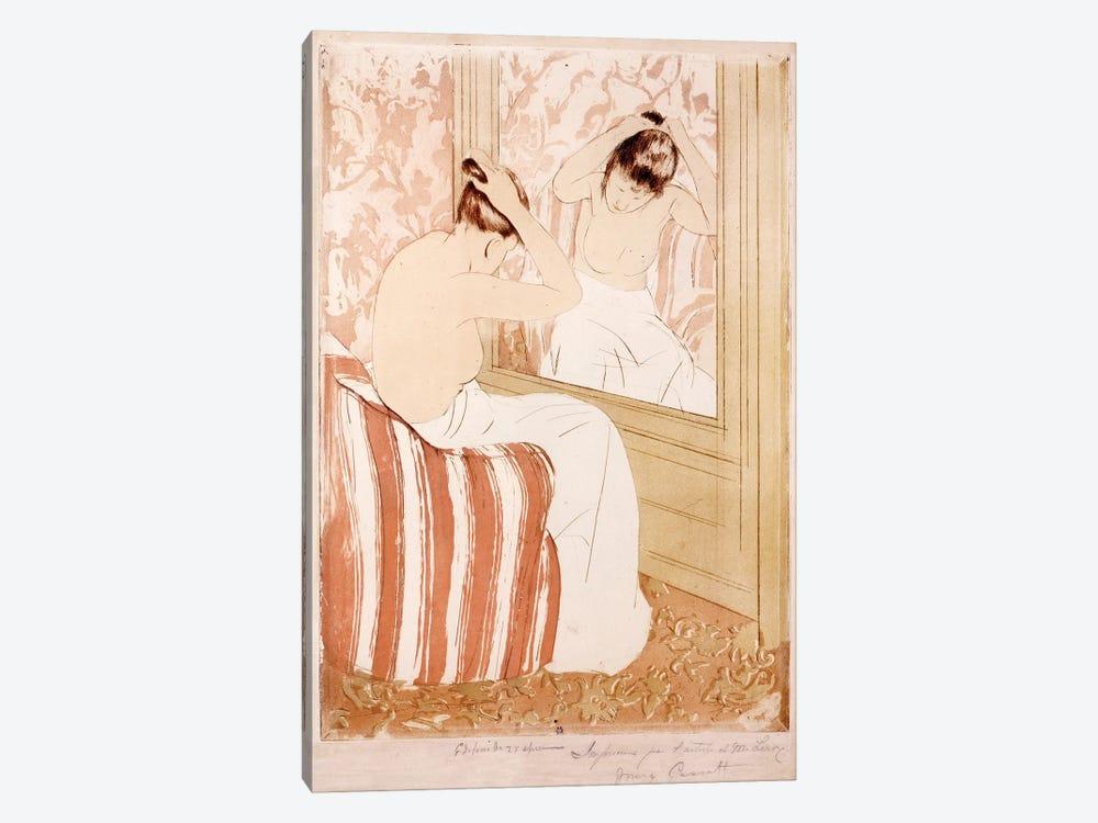 The Coiffure  by Mary Stevenson Cassatt 1-piece Canvas Wall Art