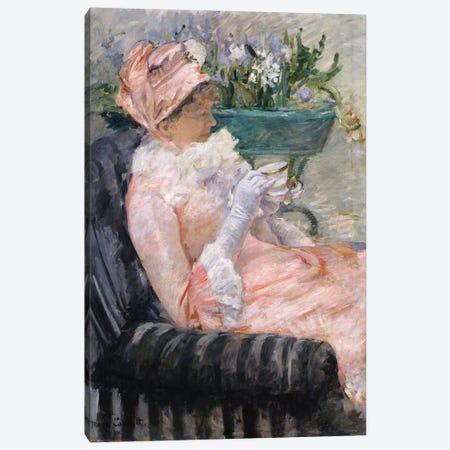 The Cup Of Tea, c.1880-1 Canvas Print #BMN8096} by Mary Stevenson Cassatt Canvas Wall Art