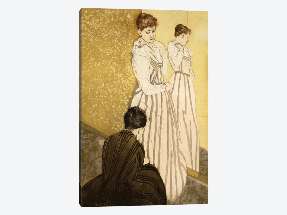 The Fitting (Colour Lithograph), Pub. 1891 by Mary Stevenson Cassatt 1-piece Canvas Artwork