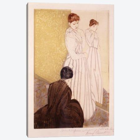 The Fitting (Ink & Charcoal) 3-Piece Canvas #BMN8098} by Mary Stevenson Cassatt Art Print