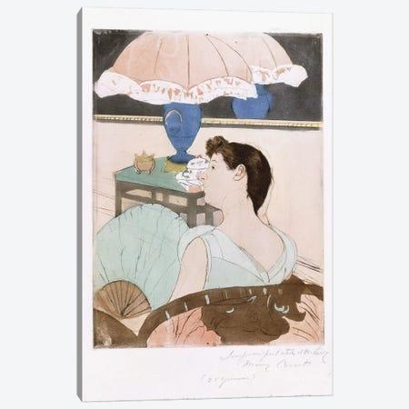 The Lamp, 1890-91 Canvas Print #BMN8099} by Mary Stevenson Cassatt Canvas Print