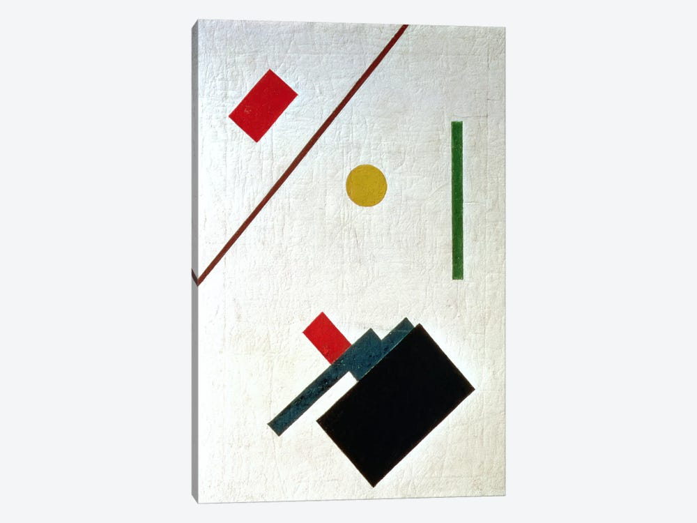 Suprematist Composition, 1915 by Kazimir Severinovich Malevich 1-piece Canvas Artwork