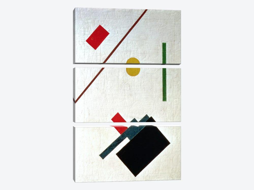 Suprematist Composition, 1915 by Kazimir Severinovich Malevich 3-piece Canvas Artwork