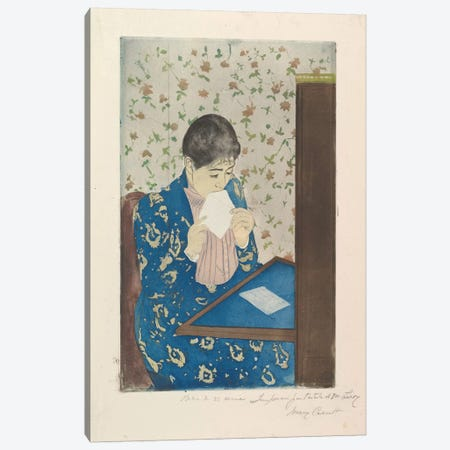 The Letter, 1890–91 Canvas Print #BMN8100} by Mary Stevenson Cassatt Art Print