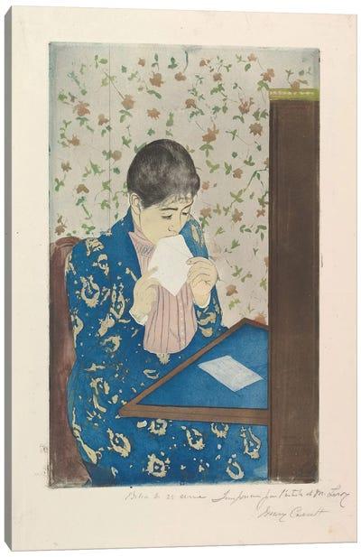 The Letter, 1890–91 Canvas Art Print